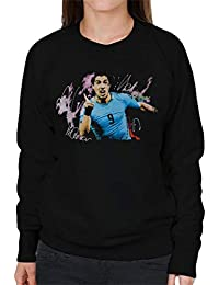 Sidney Maurer Original Portrait of Luis Suarez Uruguay Womens Sweatshirt