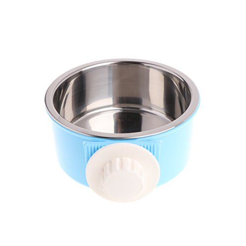 wentingZWT Cat Bowl, Anti -Slip Cat Food Bowl/Cat Feeding Bowl/Cat Water Bowl, Multi -Purpose Double Pet Feeding Bowl Fütterung Fix Bowl Edelstahl Cage Food Feeder for Dog Cat Dog Bowl -
