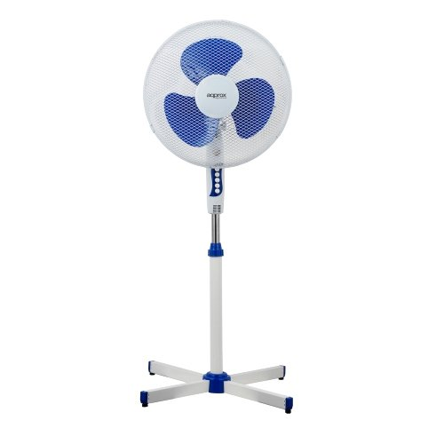 Approx APPF01P - Ventilador de pie, Color Blanco