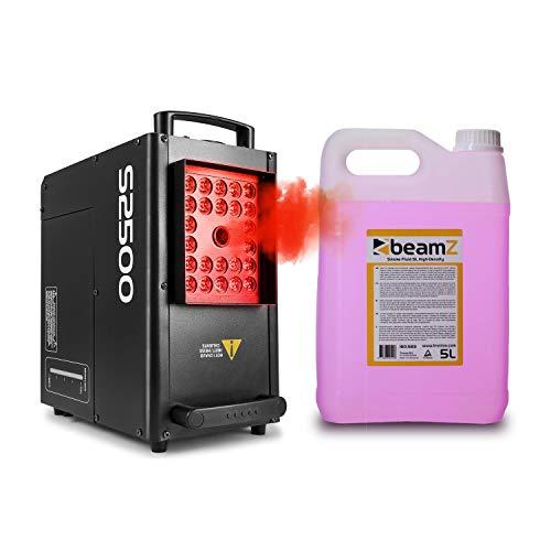 beamZ S2500 Nebelmaschine mit LED • DMX • 2500 W • 24 x 10 W • 3.5 L Tank • Intervall, Dauer und Intensität einstellbar • inkl. 5-Liter-Nebelfluid • schwarz