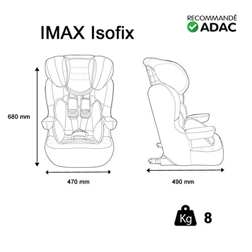 Nania Imax Group 1/2/3 Infant Highback Booster Car Seat, Petrol