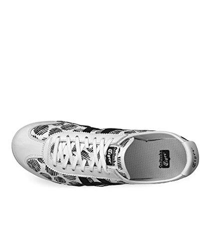 ASICS Mexico 66 D620n-0190-10 - Scarpe da Ginnastica Basse Unisex – Adulto, Bianco (white/black 0190), 44 EU Bianco