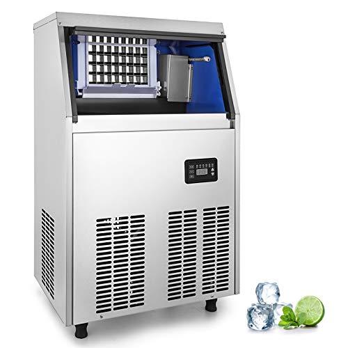 Maquina de hielo comercial de la Capacidad de 40kg:    Introducción:    Aquí, ofrecemos esta máquina de hielo comercial diseñada con una actualización, está equipada con un panel de control digital y permite establecer el tiempo de fabricación del...