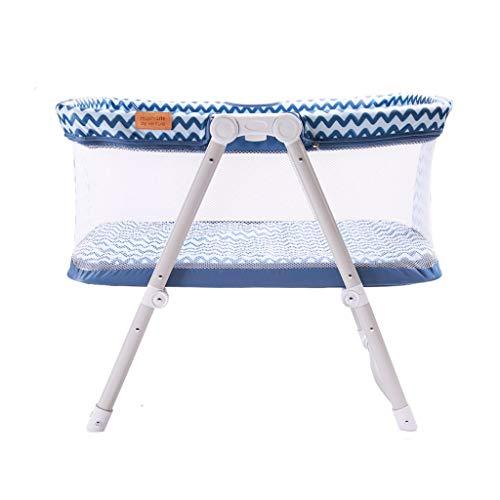 Venture Hush Lite Babybett, Kompaktes Reisebett Stubenwagen 0-6 Monate Blau