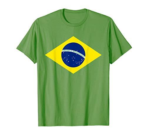�ball Trikot Brasilianisch Brasil Flaggen T-Shirt ()