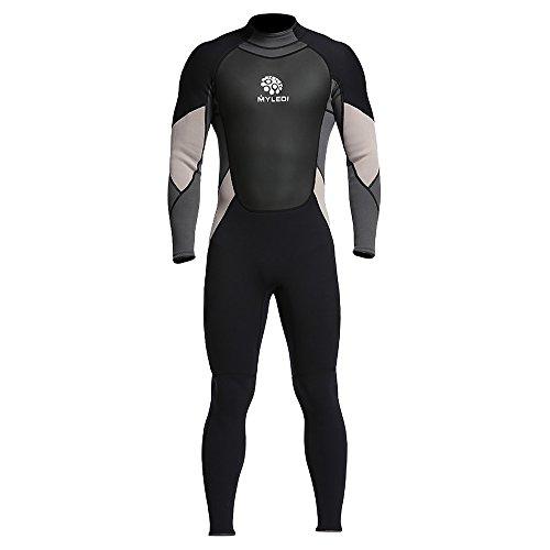 Festnight Männer 3mm Ganzkörper Neoprenanzug Taucheranzug Zurück Reißverschluss Herren Anzug für Schwimmen Surfen Tauchen Schnorcheln