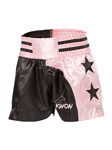 Thai-Shorts Damen schwarz/pink (XS) ... - Boxing Shorts Frauen