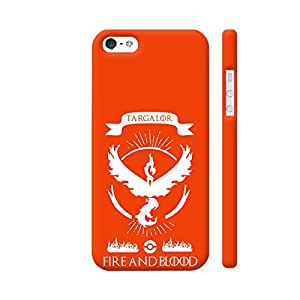 Colorpur iPhone 5 / 5s Cover - Pokemon Go Team Valor Fire And Blood Printed Back Case