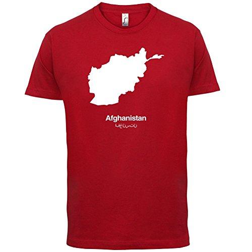 Afghanistan / Islamische Republik Afghanistan Silhouette - Herren T-Shirt - 13 Farben Rot