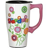 spoontiques nonna fiori, tazza da viaggio, multicolore