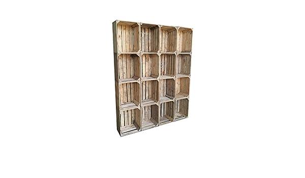 16 pezzi massiccia usato casse di legno scatole di vino per