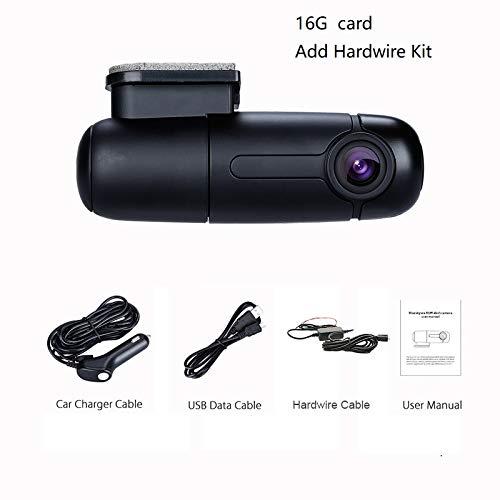 NPNPNP Aufnahmegerät Fahren Dash-Kamera Auto Recorder Mini Dvr Car Cam 1080p Full Hd Wi-fi Dashcam Parking Mode Driving Recorder G-Sensor Armaturenbrett Carcam 16G Karte Hardwire Kit hinzufügen Dvr Card Kit