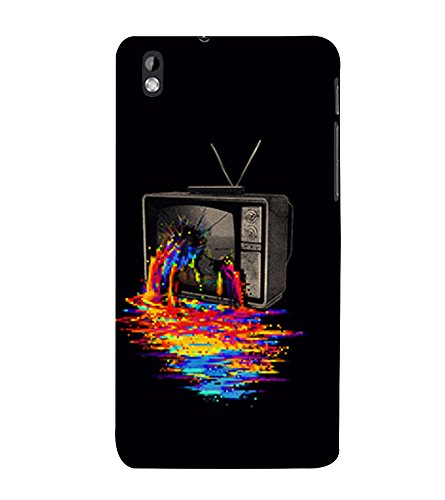 Broken Television 3D Hard Polycarbonate Designer Back Case Cover for HTC Desire 816 :: HTC Desire 816 Dual Sim :: HTC Desire 816G Dual Sim  available at amazon for Rs.389