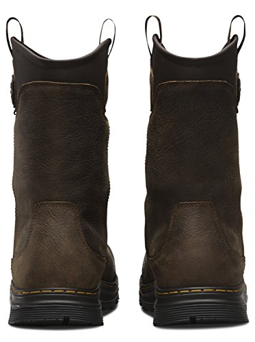 St Dr Da Lavoro Leather Dr Stivali Rigger Martens Rubber In Marrone Gomma St Mens Work Rush Rigger Eh Brown Pelle Martens Boots Fretta Mens Eh rar4qw