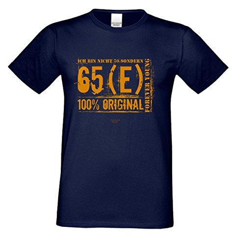 Geschenk zum 70. Geburtstag :-: Geschenkidee für Männer Papa Opa :-: Geburtstags Sprüche Motiv T-Shirt :-: Geburtstagsgeschenk Überraschungs-Geschenk für Sie und Ihn :-: blau_09