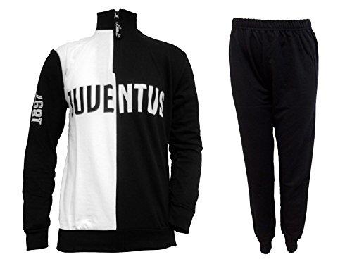 pigiama tuta uomo lungo in felpa cotone JUVENTUS prodotto ufficiale juve art. JU14062 (S, nero)