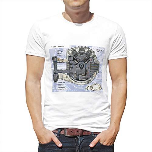 ex 3D Print Sommer Kurze Hülsen Hhv7oT Muster T Shirts Männer Fun Beiläufige Rundhals Top Tees White 4XL ()