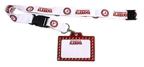 ALABAMA CRIMSON TIDE LANYARD-ALABAMA CRIMSON TIDE ID HOLDER WITH LANYARD by R and R Imports - Alabama Crimson Tide Lanyard