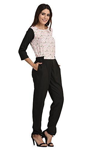 The-Gud-Look-Womens-Mix-Match-Pink-Lilly-Print-Jumpsuit