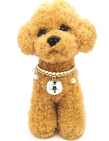Weihnachten glückliches Geschenk Hundehalsband Halskette mit Glöckchen für Kleine Hunde Welpen Katzen Silberfarbe XS