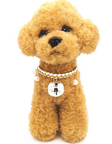 Weihnachten glückliches Geschenk Hundehalsband Halskette mit Glöckchen für Kleine Hunde Welpen Katzen Silberfarbe S