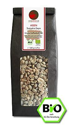 Organic green coffee beans Sumatra Gayo (highland raw coffee beans) by Rohebohnen
