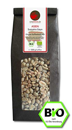Bio Rohkaffee - Grüner Hochland Kaffee Sumatra Gayo (grüne Kaffeebohnen 500g)