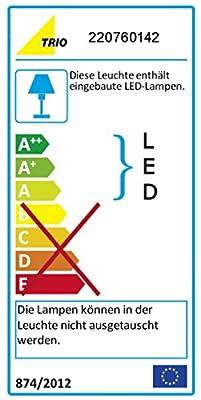 Trio Leuchten LED Außen Wegeleuchte Ohio 420969142, Aluminiumguss Anthrazit, 6 Watt LED, IP54, Bewegungsmelder