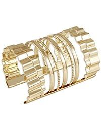 Karatcart Metal Gold Cuff Bracelet For Women
