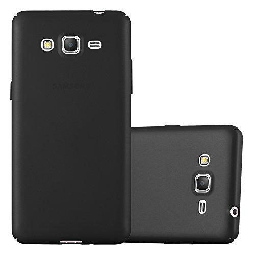 Cadorabo Funda para Samsung Galaxy Grand Prime en Metal Negro - Cubierta Protección de Plástico Duro Super Delgada e Inflexible con Antichoque - Case Cover Carcasa Protectora Ligera