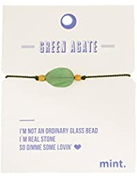 Mint Single stone silk bracelet green agate