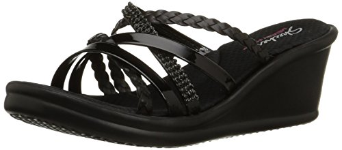 Skechers - Rumblers - Wild Child, Sandali con platea Donna Nero (bbk)