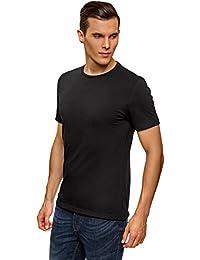 oodji Ultra Hombre Camiseta Básica (Pack ... 76d01c0bfbfb0