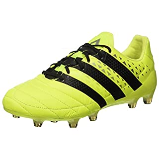 adidas Herren Ace 16.1 Fg Leather Fußballschuhe, Gelb (Syello/Cblack/Silvmt), 46 2/3 EU