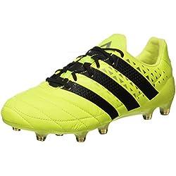 adidas Ace 16.1 FG Leather, Scarpe da Calcio Uomo, Giallo (Syello/Cblack/SILVMT), 42 2/3 EU