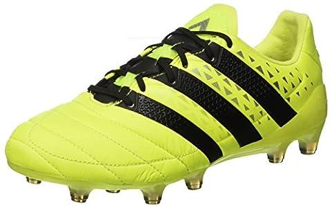 adidas Ace 16.1 Fg Leather, shoes homme - Jaune (Syello/Cblack/Silvmt), 43 1/3 EU