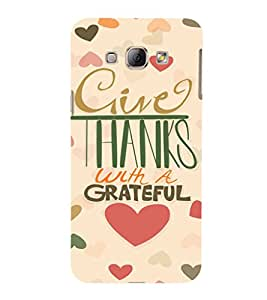 EPICCASE Hearty thanks Mobile Back Case Cover For Samsung Galaxy A3 (Designer Case)
