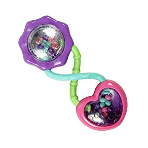 Bright Starts - Pink Barbell Rattle