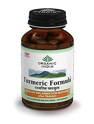 Organic India Turmeric Formula Healthy Inflammation Response Pure Safe & Effective - 60 Capsules from Organic India