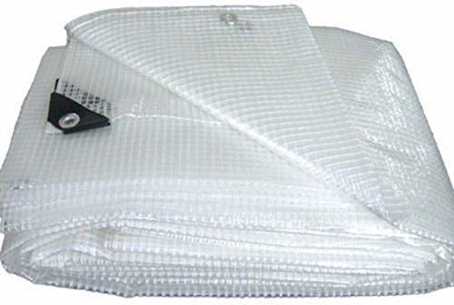 Telo telone occhiellato pvc retinato bianco copertura esterno protezione esterno mt 2,5x3