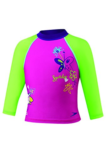 Speedo Kids 'UPF 50+ beginnen zu schwimmen Lange Ärmel Sun Shirt, rose
