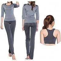 CWJ Yoga Abbigliamento Sportivo Tuta Femminile Manica a Sette Punti in Tre Pezzi  Corsa velocità Sudore 25e236a332a