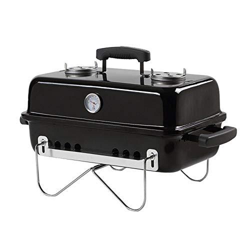 Barbecue grill 3-5 Personnes utilisent Grille Rack extérieur Portable Style Japonais Pliant étagère Barbecue à Charbon Mini ménage GW (Couleur : Noir)