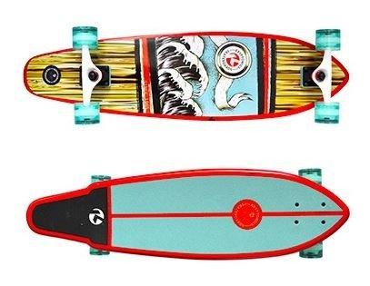 Kryptonics Longboard Cruiser Komplettboard 34 x 9 inch - Complete Longboard