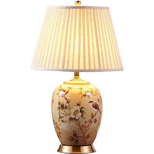 Lampe de table F Lampe de table en céramique Douille de lampe en cuivre E27 Base de dessin en fil de cuivre Américain minimaliste Rétro Salon chambre Lampe de chevet