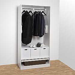 Sotech SO-TECH® Kleiderlift Garderobenlift breitenanpassbar von 545-700 mm weiß (Beschlag ohne Schrank!)
