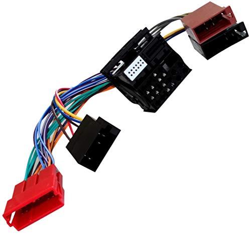 AERZETIX: Adaptateur Faisceau câble fiche ISO pour autoradio Navigation RNS-E pour Auto Voiture