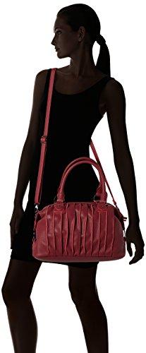 Sansibar - Zip Bag, Borse a secchiello Donna Rosso (Dark Red)