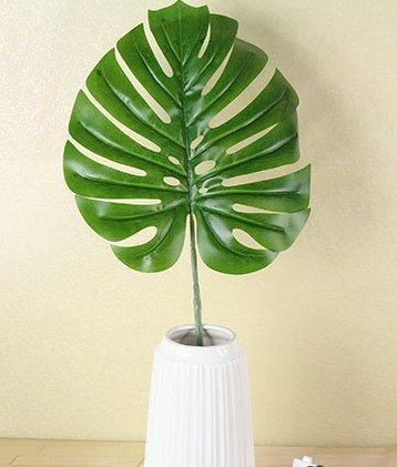 URGrace 20Pcs 15.5inch künstliches Blatt tropische Palme Blätter Simulations-Blatt für hawaiisches Luau Strand-Thema-Partei-Schreibtisch-Dekorationen Hauptgarten-Dekor