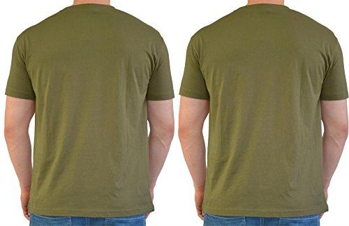 2 x US/BW T-Shirt, klassisches Armee-T-Shirt, in verschiedenen Farben zu Auswahl, in den Größen S-3XL Oliv/Oliv